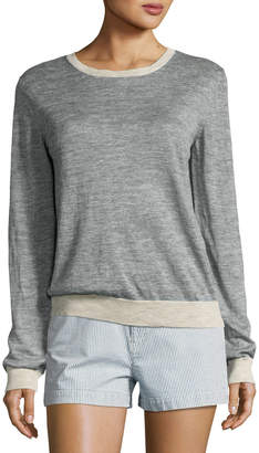 A.P.C. Pull Westward Knit Jersey Top, Indigo