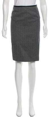 Gucci Wool Herringbone Skirt