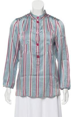 Marc by Marc Jacobs Silk Striped Blouse
