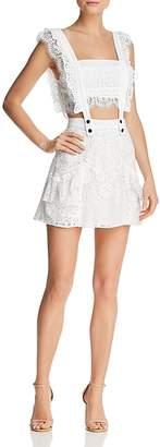 For Love & Lemons Tati Two-Piece Lace Dress