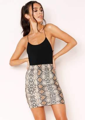 42c8e6d015 Missy Empire Hadley Snake Print Mini Skirt