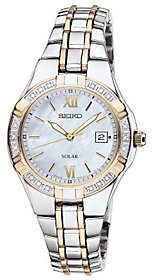 Seiko Women's Two-Tone Diamond Accent Watch $425 thestylecure.com