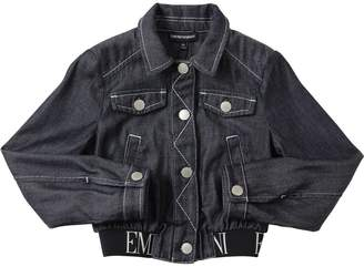 Emporio Armani Cropped Cotton Denim Jacket