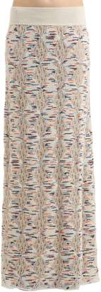 Missoni Wool Blend Open Lace & Tweed Knit Skirt