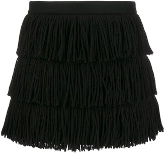 RED Valentino fringed tassel skirt
