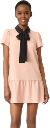 RED Valentino Tie Neck Dress $575 thestylecure.com