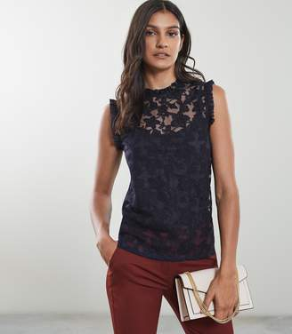 Reiss Marina Sleeveless Lace Top