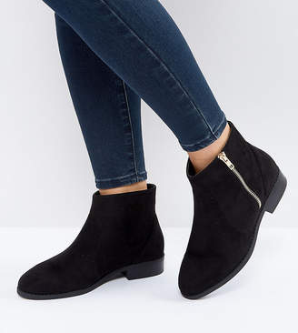 Asos DESIGN ACCUSED Wide Fit Ankle Boots