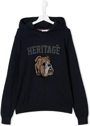 Sun 68 TEEN Heritage knitted hoodie