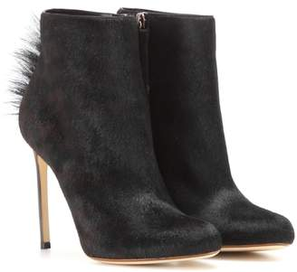 Francesco Russo Calf hair ankle boots