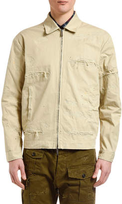 DSQUARED2 Men's Distressed Chino Bomber Jacket