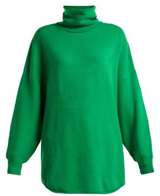 Extreme Cashmere - No. 52 Roll Cashmere Blend Sweater - Womens - Green