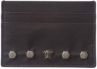 a9494768147 Versace Studded Leather Card Case