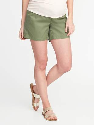 Old Navy Maternity Side-Panel Twill Shorts