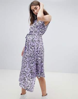 Gestuz leopard wrap dress