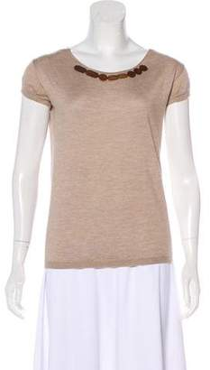 Marni Cashmere Beaded Top
