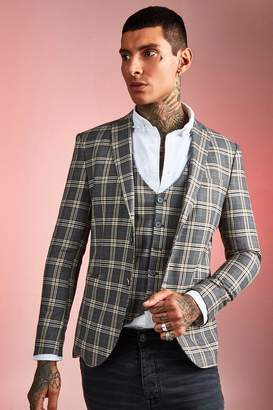 Heritage Check Skinny Fit Suit Jacket