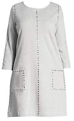 Joan Vass Women's Studded Cotton Interlock Dress