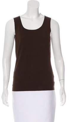 Lafayette 148 Crew Neck Sleeveless Top