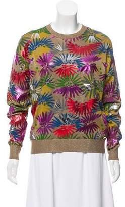 Chanel Embellished Metallic Sweater