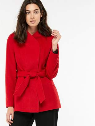 9d678416e232 at Littlewoods · Monsoon Rose Belted Coat - Red