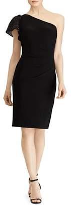 Ralph Lauren Embellished One-Shoulder Dress