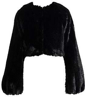 ATTICO Women's Faux Fur Crop Jacket
