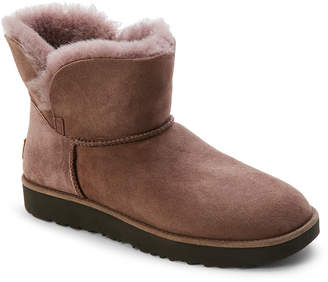 UGG Stormy Grey Classic Cuff Real Fur Mini Boots