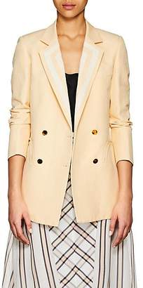 BLAZÉ MILANO Women's Silk-Linen Double-Breasted Blazer - White
