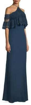 Bailey 44 Pudina Crochet Halter Maxi Dress