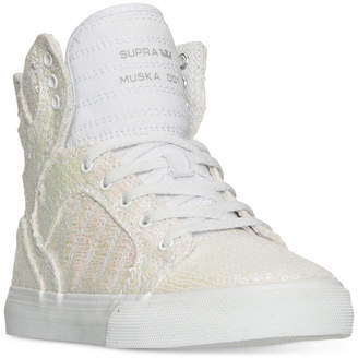 Supra Little Girls' Skytop Sequin High-Top Casual Sneakers from Finish Line $69.99 thestylecure.com