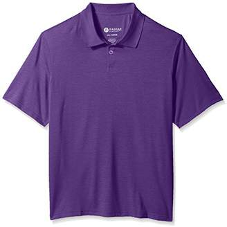 Haggar Men's Big and Tall Short Sleeve Space Dye Knit Polo