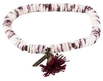 Isabel Marant Fiji Shell Bead Tassel Bracelet