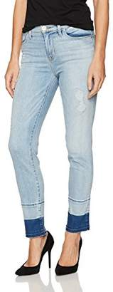 Hudson Jeans Women's Zoeey High Rise Straight Jean with Released Raw Hem
