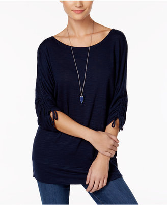 Style & Co Slit-Sleeve Banded-Bottom Tunic, Only at Macy's $44.50 thestylecure.com