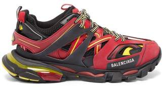 Balenciaga Track Low Top Leather Trainers - Mens - Red Multi