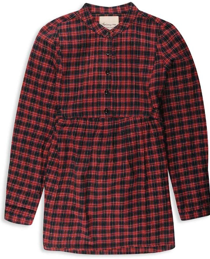 Forever 21 Heritage 1981 Pintucked Plaid Woven Shirt