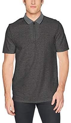 Calvin Klein Men's Short Sleeve Zipper Close Polo Shirt