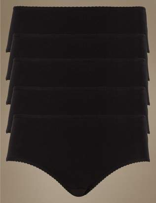 Marks and Spencer 5 Pack Cotton Rich Midi Knickers with New & Improved Fabric