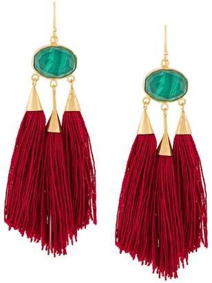 Katerina Makriyianni long fringe earrings