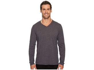 Agave Denim Feathering Long Sleeve Neps Jersey T-Shirt Men's Long Sleeve Pullover