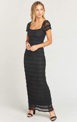 Show Me Your Mumu Stella Maxi Dress ~ One and Only Lace Black