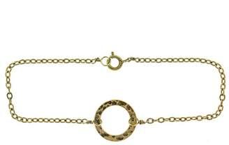 14k Yellow Gold Circle Bracelet