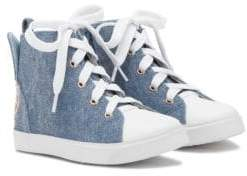 Sophia Webster Baby's& Kid's Bibi Denim High Top Sneakers