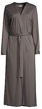 Hanro Women's Ella Long Cotton Robe