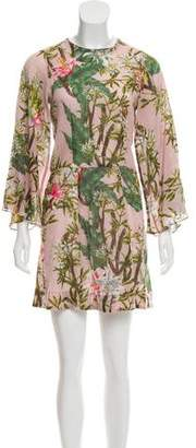 Isabel Marant Étoile Floral Print Bell Sleeve Dress