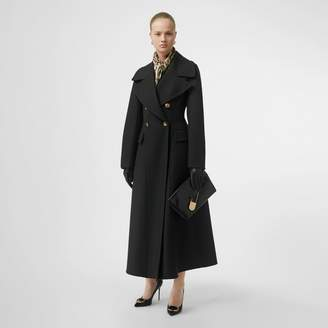 Burberry Doeskin Wool Tailored Coat