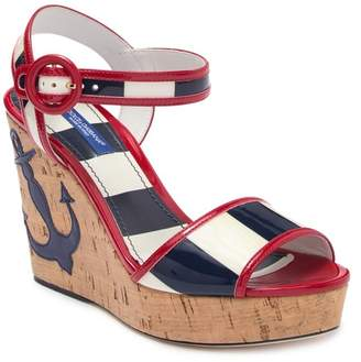 Dolce & Gabbana Anchor Cork Wedge Sandal