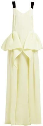 Roksanda Tirese Cascade Panel Organza Gown - Womens - Yellow
