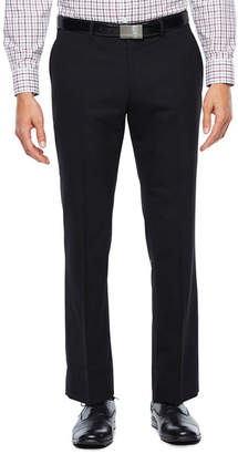 COLLECTION Collection by Michael Strahan Black Herringbone Stretch Slim Fit Suit Pants